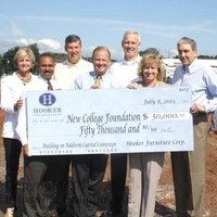 Hooker contributes $50,000 to New College building fund